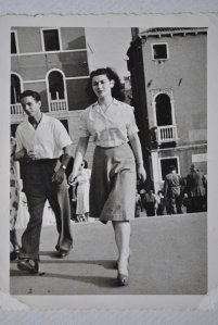 Mamma on her honeymoon in Venezia, 1948