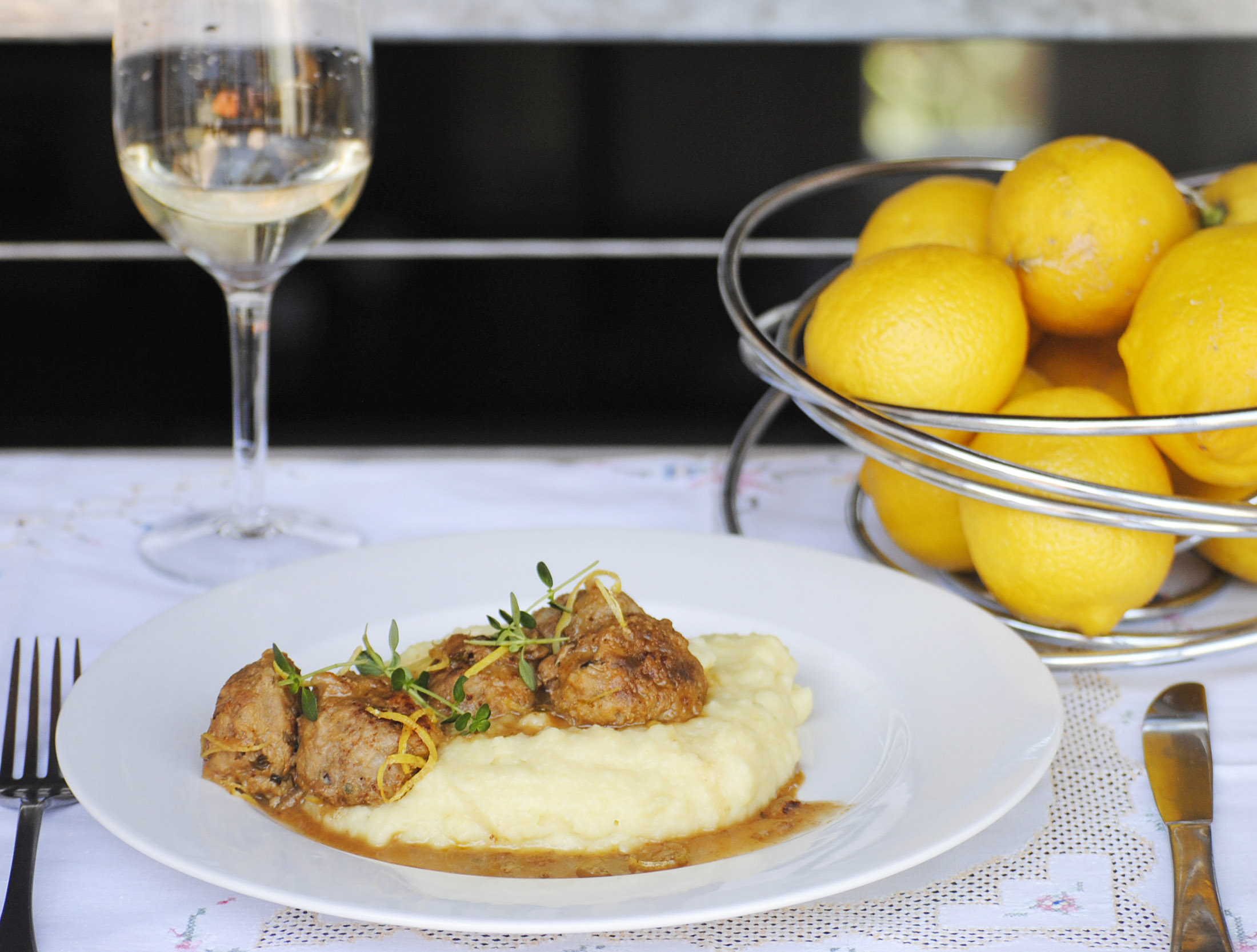 Pork Meatballs With Lemon And Thyme Recipe — Dishmaps