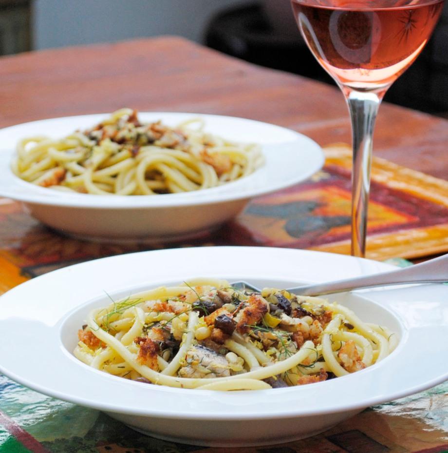 sardine pasta two plates