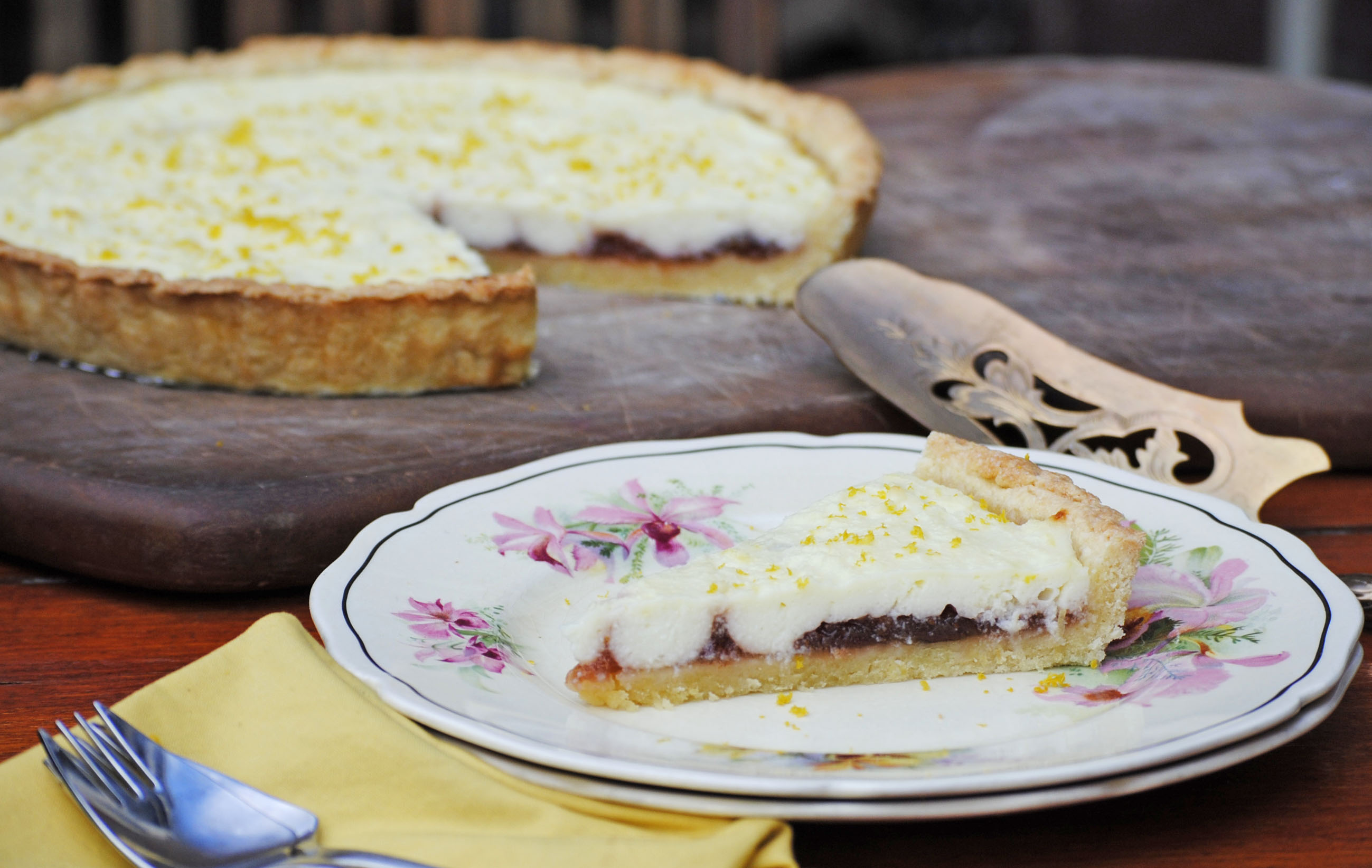Lemon ricotta and orange marmalade tart | italy on my mind