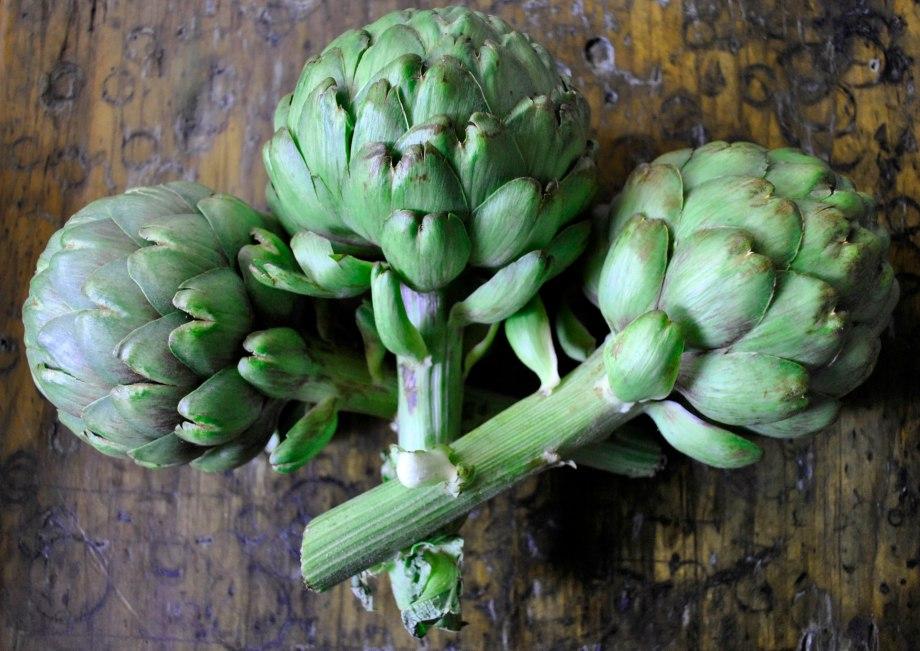 3 artichokes