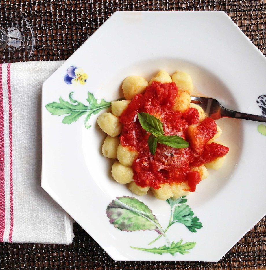 gnocchi with tomato and basil salsa