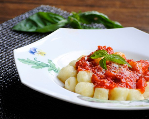 plate of gnocchi close