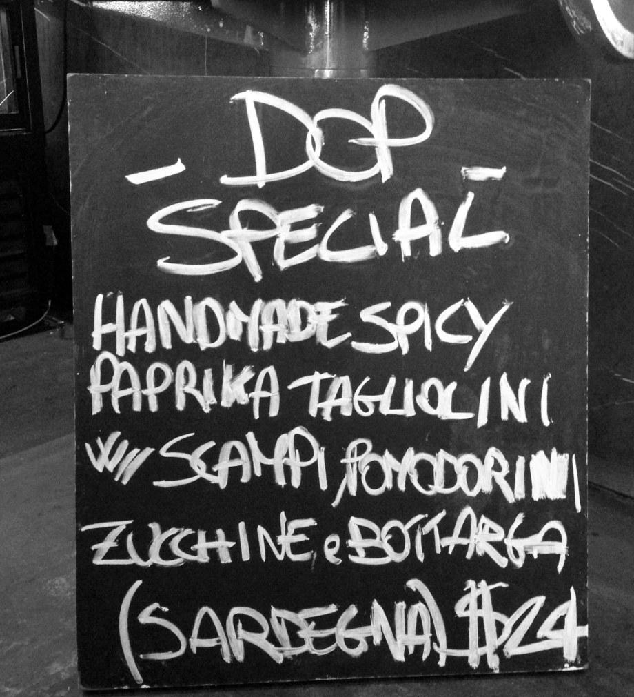 DOP menu