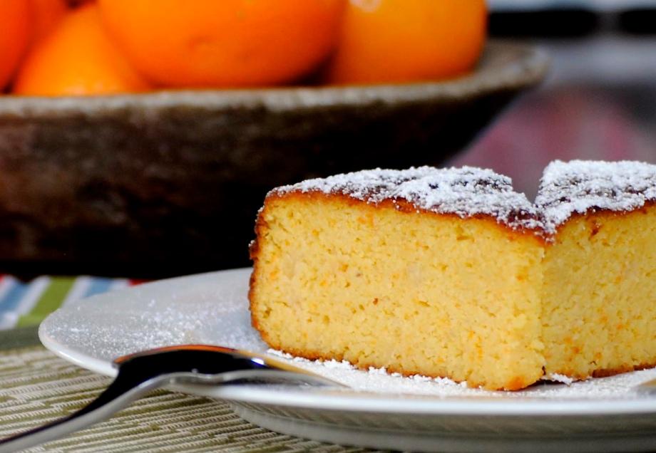 orange cake and oranges_landscape