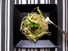 linguine with zucchini, mint and lemon