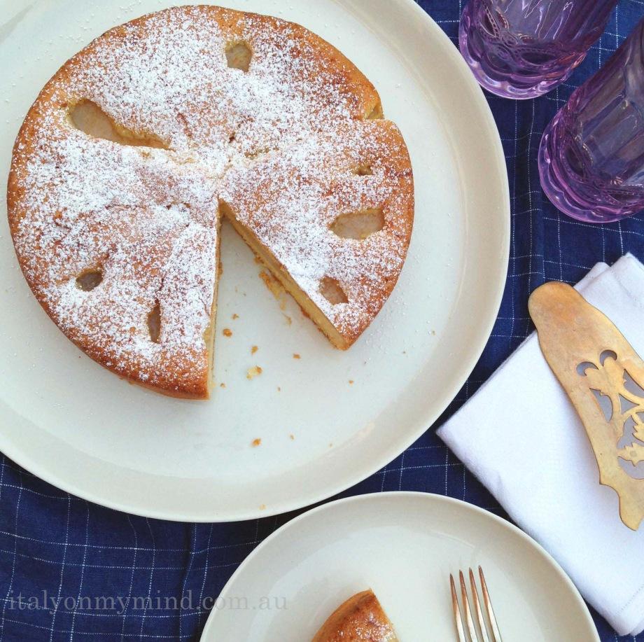 italian pear cake-italyonmymind