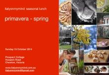 italy on my mind - seasonal lunch - chewton - spring 2014