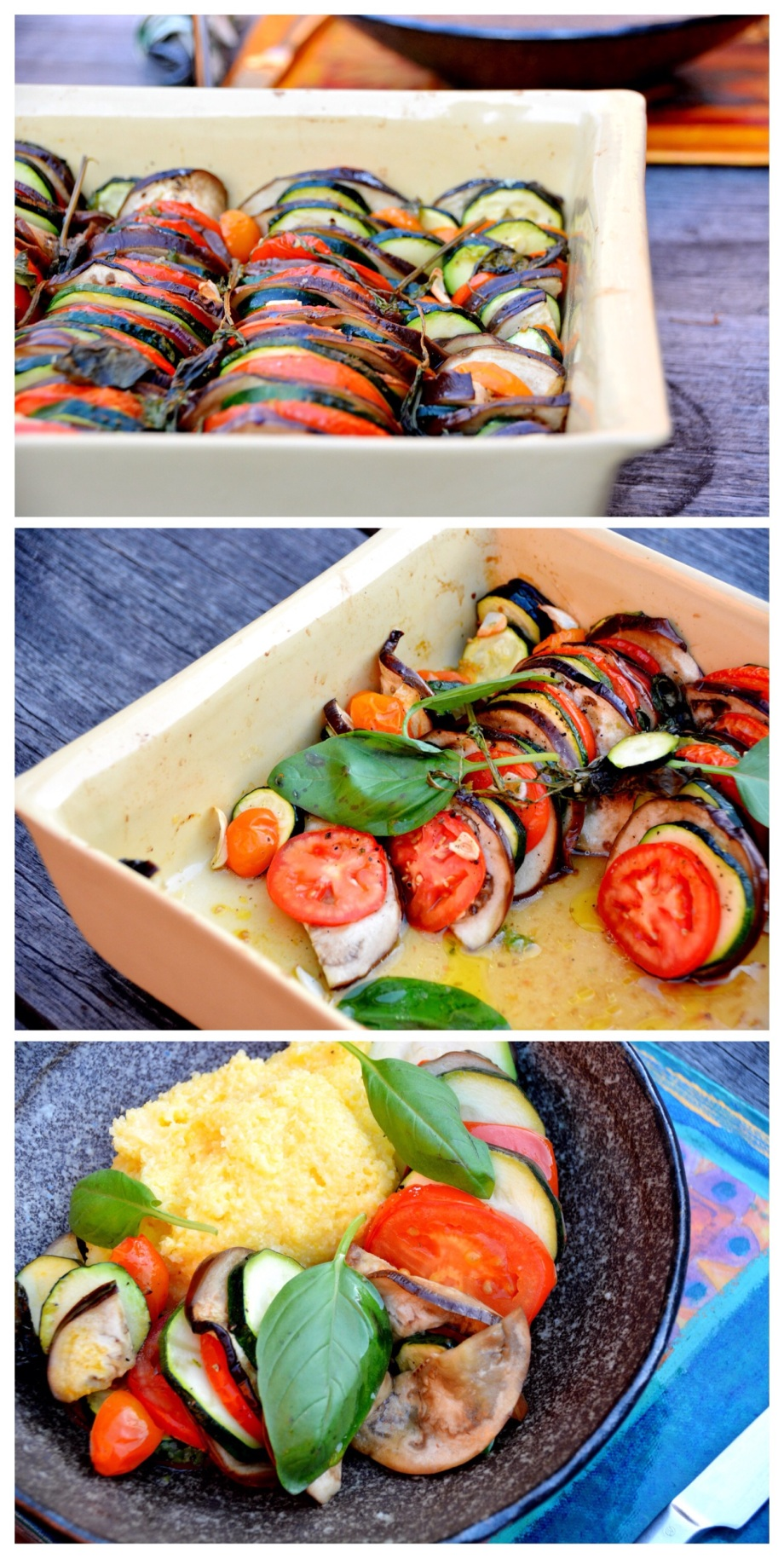 italy on my mind-best food blog-peperonata baked in the oven with basil-tian
